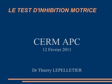 le test d'inhibition motrice