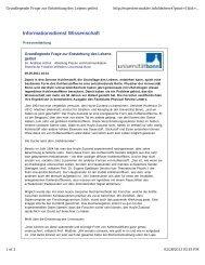 Über den Ursprung von kohlenstoffbasiertem Leben - Institut für ...