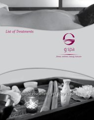 Download Our Price List - G spa