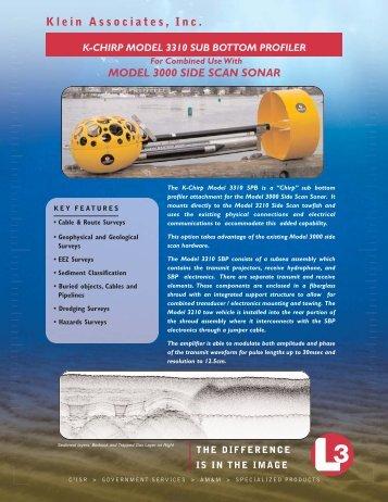 L-3 Klein K-Chirp Model 3310 Sub Bottom Profiler (Click here for PDF)