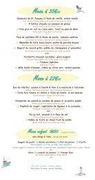 Donwload our menu - Le Grand Large