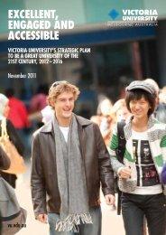VU Strategic Plan - concise - Victoria University