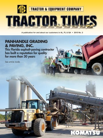 PANHANDLE GRADING & PAVING, INC. - TEC Tractor Times
