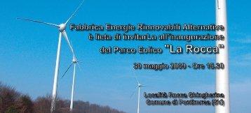 """del Parco Eolico """"La Rocca"""" - Coopi"""