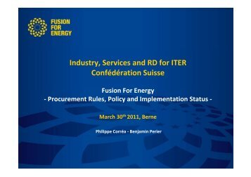 Procurement Rules, Policy and Implementation Status - Iter Industry