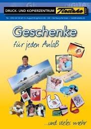 Geschenke - Tiedeke GmbH