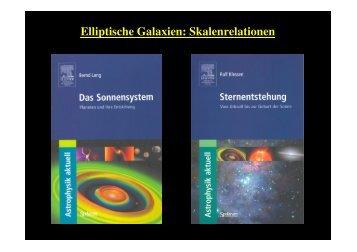 Elliptische Galaxien: Skalenrelationen