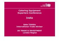 Catering Equipment Exporters Conference