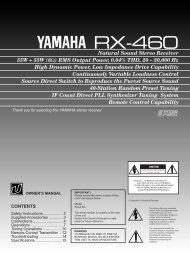 RX-460 U.S.A. - Yamaha