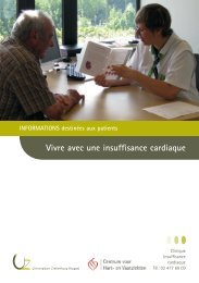 Vivre avec une insuffisance cardiaque - UZ Brussel: Patientinfo