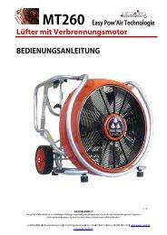 Bedienungsanleitung MT260 Easy Pow'Air ... - Leader GmbH
