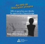 Compte rendu de la Biennale 2008 de l'éducation en Afrique - ADEA