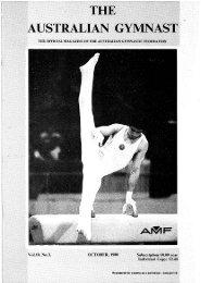 October - Gymnastics Australia