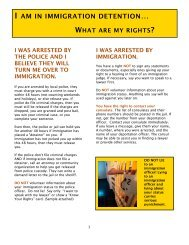 I Am In Immigration Detention… What Are My Rights - National ...