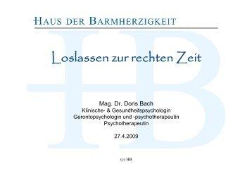 Mag. Dr. Doris Bach - Wir über uns