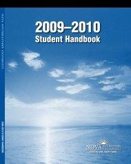 2009-2010 University Student Handbook - Center for Psychological ...