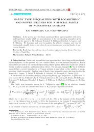hardy type inequalities with logarithmic and power weights for a ...
