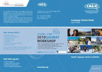 Visit IALC.org for - International Association of Language Centres