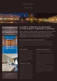 claSSic french elegance in poland'S ViBrant capital - Sofitel