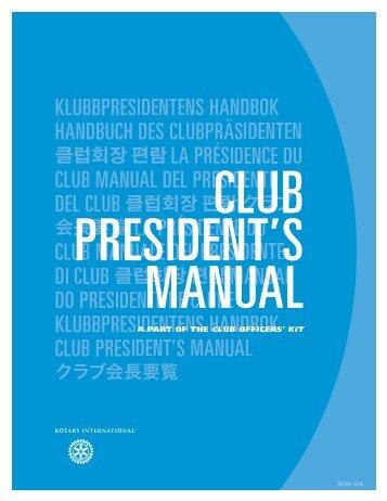Club President's Manual (222-EN) - Rotary International