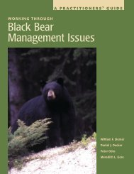 Black Bear Management Issues - Wildlife Control Information