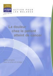 La douleur chez le patient atteint de cancer - Ligue-cancer83.net