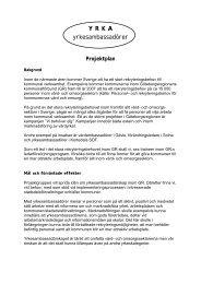 YRKA Projektplan - GR Utbildning