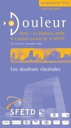 Programme final édition 2009 - SFETD