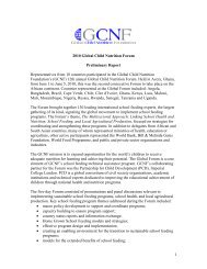 Global Forum Preliminary Report (pdf) - Global Child Nutrition ...