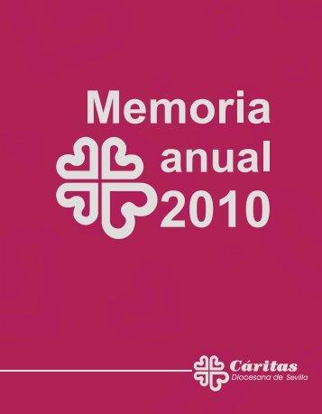 Memoria de actividades 2010 - Caritas Diocesana de Sevilla