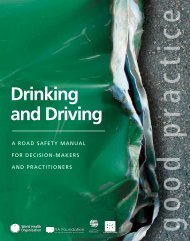 Drinking and Driving - World Health Organization