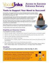 VocaLinks Education Entrance Bursary details and application form