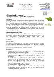 Informationsblatt für Arbeitgeber 2012 - Mitmachen Ehrensache