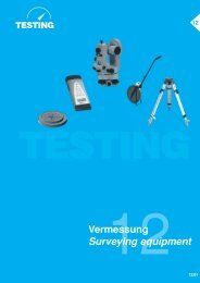 Katalog Testing - Testing Equipment for Construction Materials