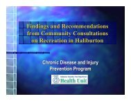 Findings and Recommendations from Community Consultations on ...