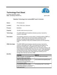 Butadiene Techology from Lummus/BASF used in Indonesia - CB&I