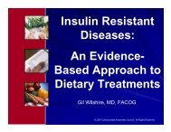Insulin Resistant Diseases: An Evidence - Nutrition and Metabolism ...