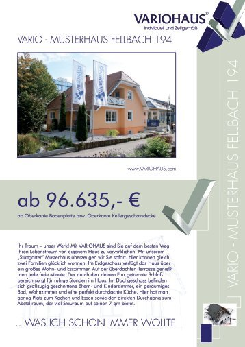 Musterhaus Fellbach 194 - VARIOHAUS.com
