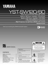 YST-SW120/60 - Yamaha