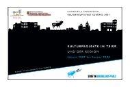 kulturprojekte in trier und der region - Kultursommer aktuell
