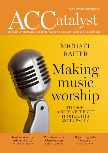 Download the December 2012 edition - Assembly of Confessing ...