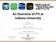 An Overview of PTI at Indiana University - Data to Insight Center