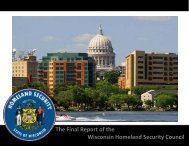 The Final Report of the Wisconsin Homeland Security Council