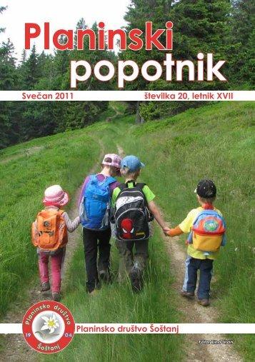 Planinski popotnik 20 - 2011 - sostanj.info