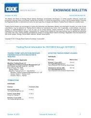 Trading Permit Information for 10/11/2012 through 10 ... - CBOE.com