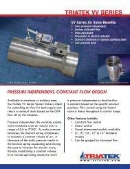 Triatek Venturi Valve Cut Sheet - Air Specialty Products