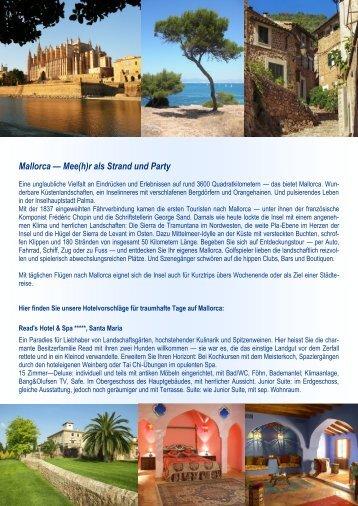 Mallorca — Mee(h)r als Strand und Party
