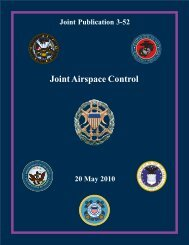 JP 3-52, Joint Airspace Control - Defense Technical Information ...