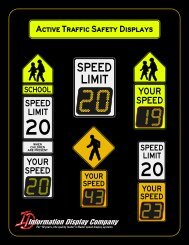 SPEEDCHECK Voluntary Speed Compliance Display Systems