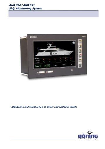 AHD 650/651 Monitor